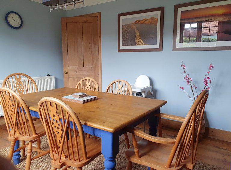 Coastguard Cottage Dining Room view to door