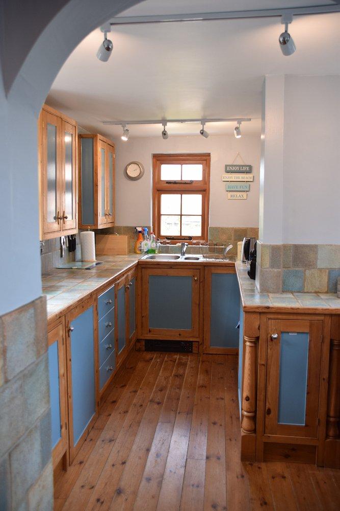 Coastguard Cottage Kitchen view to window