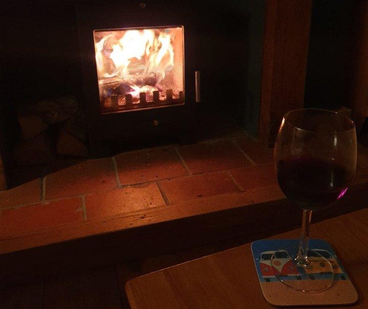 Coastguard Cottage Lounge Woodburner